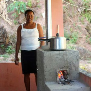 Woman and Stove